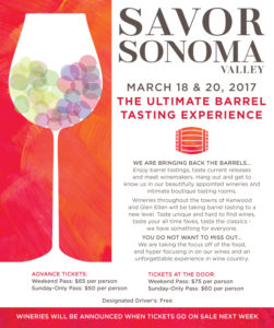 Savor Sonoma Valley 2017