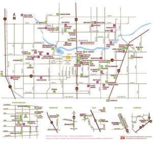 Lodi wine trail map